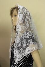 White First Communion veils and mantilla church  scarf lace headcovering WNL