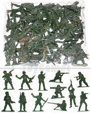 50 pcs Military Plastic Toy Soldiers Army Men Green 5cm Figures 12 Poses