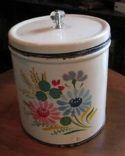 100  Vintage 1950's Recipes & toleware canister tin can