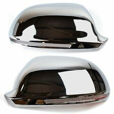 CHROME SET WING DOOR MIRROR COVERS FOR Audi A4 2008-2011 Pair
