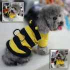 Cute Bumblebee Puppy Dog Cat Costume Clothes Pet Apparel Bumble Bee Coat Jacket