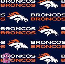 140226024- New Denver Broncos NFL 100% Cotton Fabric 2507 D Football By The Yard