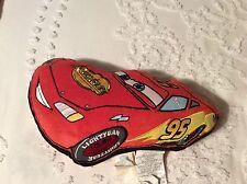 """Lightning McQueen CARS Disney/Pixar Pillow  15""""X9"""" Soft Rust-eze!"""
