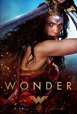 Wonder Woman Movie Poster (24x36) - Gal Gadot, Chris Pine v2