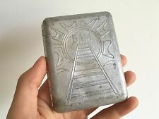 Soviet Cigarette Holder Case - Baikal-Amur Mainline BAM /// Railroad Old USSR