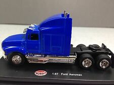 HO 1/87 Model Power # 20300 Ford Aeromax Tractor - Blue