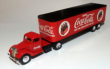 CUSTOM BUILT 1937 FORD COCA COLA TRACTOR TRAILER SEMI TRUCK COKE  1/43 O scale