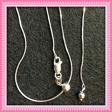 Silver Necklace ADJUSTABLE .9mm 14 to 22 in. SAME DAY SHIPPING