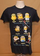MINIONS DESPICABLE ME DISTRESSED LOGO ADULT SMALL GRAPHIC TEE T SHIRT