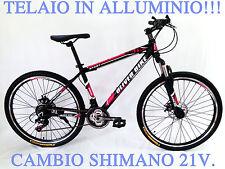 BICICLETTA DA MONTAGNA,MTB,MOUNTAIN BIKE 26,ALLUMINIO,SHIMANO 21,AMMORTIZZATA