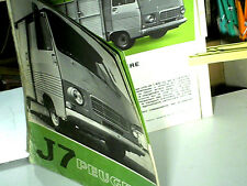 CATALOGUE PEUGEOT J7 1975/76 MINIBUS / CARS / PICK UP / BETAILLERE