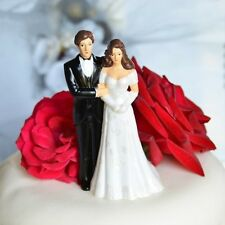 Vintage Bride and Groom Wedding Cake Topper