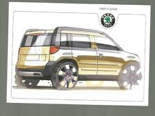 Carte potale Poscard Skoda YETI CONCEPT CAR