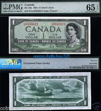 Devils Face H/A (change-over) Bank Of Canada PMG Graded Banknote PMG65