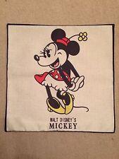 Disney Minnie Mouse Linen Effect Cushion Cover. Vintage Retro BN. 45x45cm