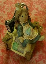 "Vintage Sewing Doll San Francisco Music Box Plays ""THAT'S WHAT FRIENDS ARE FOR"""