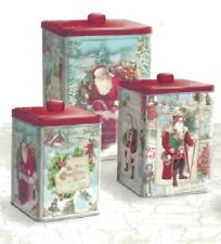 Punch Studio Holiday Nesting Treat Canisters Set SANTA