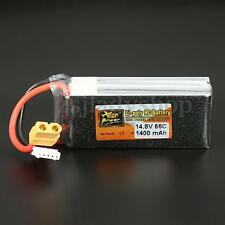 ZOP Power 14.8V 1400mAh 65C 4S Lipo Battery XT60 Plug