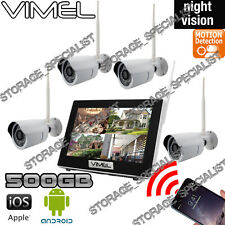 IP Security Cameras System Wireless 500GB Farm Home Motion Activation Vandal