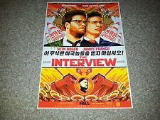 "THE INTERVIEW CASTX2 PP SIGNED 12"" X 8"" A4 PHOTO POSTER SETH ROGAN JAMES FRANCO"