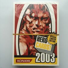 KONAMI HERO 2003 PLAYING CARDS - SPECIAL LIMITED EDITION - METAL GEAR SOLID ETC