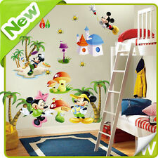MICKEY & MINNIE Mouse Adesivo Parete Albero Baby Nursery HOME Room decalcomania decorazione arte