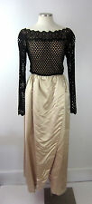 Rare Vintage 60s Werle Beverly Hills Couture Evening Dress Gown Hand Stitching