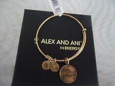 Alex and Ani TODAY IS AN OPPORTUNITY Russian Gold  Bangle New  W/ Tag Card & Box