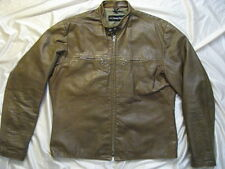 AMF Harley Davidson Leather Jacket Brown Cafe Sport Racing USA Made 70s Men M