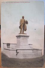 Montana Postcard MARCUS DALY Statue BUTTE Mont Copper King Augustine St-Gaudens