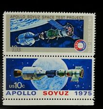 1975 10c Apollo Soyuz Space Test Project, Pair Scott 1569-70 Mint F/VF NH