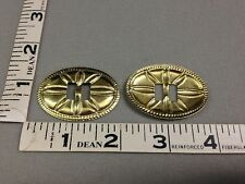 12 pieces Slotted Western Large Oval Gold Conchos - #C9G