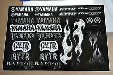 YAMAHA UNIVERSAL GRAPHICS STICKERS THREE 12X18 SHEETS RAPTOR BANSHEE YFZ450 YZ