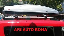 BOX AUTO PORTAPACCHI G3 ALL-TIME 480+BARRE PORTATUTTO ALLUMINIO FIAT DOBLO