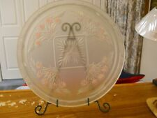 "Ornamental glass plate, 13"" diameter"