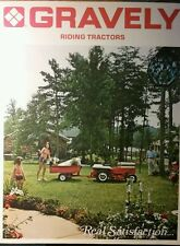 Gravely 810 812 814 816 Riding Lawn Garden Tractor Color Sales Manual 16pg 1973