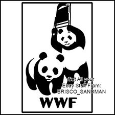 Fridge Fun Refrigerator Magnet WORLD WILDLIFE FUND WRESTLING FEDERATION Funny