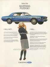 1967 FORD MUSTANG A3 POSTER AD SALES BROCHURE MINT ADVERTISEMENT ADVERT