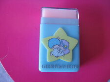 Sanrio LITTLE TWIN STARS CASE ERASER SET VINTAGE  NEW OLD STOCK 1976