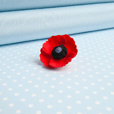 small  POPPY LAPEL PIN flower jewellery MADE IN WALES UK Handpainted