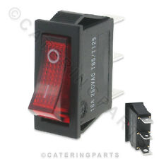 POLAR AA645 ILLUMINATED RED ROCKER SWITCH 16A 250V FOR G211 G619 CHILLED DISPLAY