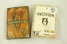 Oblivion The Elder Scrolls IV & Morrowind Elder Scrolls III Lot of 2 PC Games