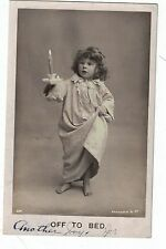 Antique postcard 1907 Off to Bed