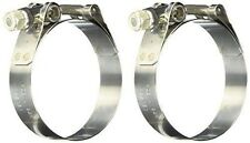 Vibrant Stainless Steel T-Bolt Clamps (Pack of 2) - Clamp Range: 2.53-in+  2792
