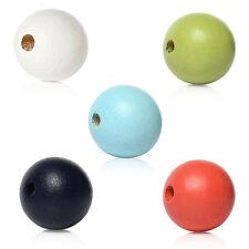 20 perles en bois 10mm couleur mixte 10 mm perle, bijoux, bracelet, collier
