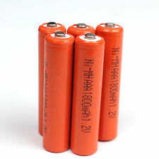 5 pcs AAA 3A 1800mAh 1.2V Ni-MH rechargeable battery For Solar Light MP3 RC -red
