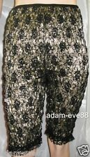 PETTI-PANTS BLOOMERS GOLD LAMME & BLACK FLORAL LACE VINTAGE MALCO MODES MEDIUM