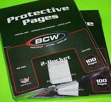 200 PRO 2-POCKET #10 ENVELOPE PAGES, FOR COVERS, PHOTOS, COUPONS, ETC. BY BCW