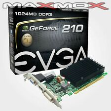 EVGA NVIDIA Geforce 210 PC 1GB Grafikkarte PCI Express 1024 MB DDR3 DVI HDMI VGA