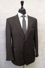 Men's Charcoal Austin Reed Pinstripe Suit 40S W32 L28 JB822